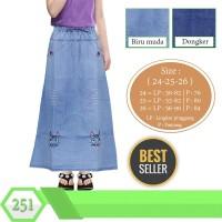 Jual Rok Panjang Jeans anak usia 6-10tahun Bordir Karakter Murah