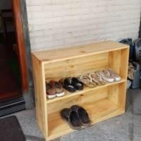 Rak Lemari Sepatu Full Kayu Jati Belanda Pinus Solid Murah dan Keren