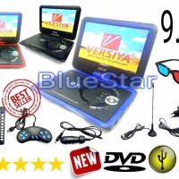 TOP Ready DVD PORTABLE LED 9 8 inch USB SD Card TV Tuner Berkualitas