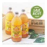 Bragg, Organic Apple Cider Vinegar (ACV / Cuka Apel) 946ml for 3pc