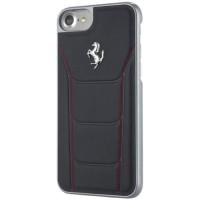 Ferrari Silver Deboss Leather - Samsung Note FE - Black