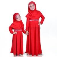 Baju Muslim Gamis Couple Kakak Adik Spandek Jersey Lucu Murah