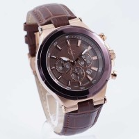 Jam Tangan Guess Collection Gc Structura Y23009G4 Leather Brown