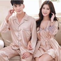 TOP Ready Piyama couple impor satin baju tidur pengantin baru kado we