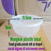Mangkok Plastik es kepal / thin wall mangku/mangkuk plastik ES KEPAL