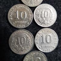 Uang koin 10 rupiah 1971 kancing