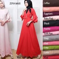 NEW gz Zoya maxi baju muslim wanita gamis bagus murah modern lucu