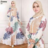 DRESS LEBARAN Maxi Emma (33) Putih Baju Muslim Wanita Gamis Model