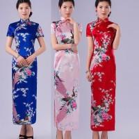 SALE MURAH BAJU DRESS CHEONGSAM IMPORT KUALITAS PREMIUM FLORAL BEST