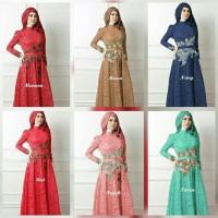 Jual Promo Gamis Lebaran 2017 / Baju Pesta Muslimah / Gamis Brokat Terbaru Murah
