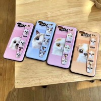 Softcase Motif Cat Dan Dog Plus Stand FOR SAMSUNG A8 2018