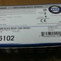 PN: 45102 - Pita Ribbon Fargo DTC1250e Black Hitam Printer Kartu