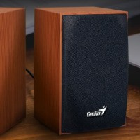 GENIUS SP-HF160 Wooden Speaker Desktop Multimedia PC Komputer,Laptop