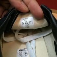 SEPATU VANS AUTENTIC BLACK WHITE ORIGINAL waflle DT PREMIUM Q-HITAM 44