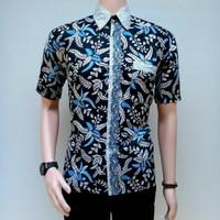 Jual Kemeja Batik Pria Batik Pekalongan Grosir murah Batik Riski lestari Murah