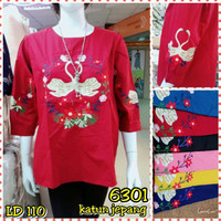 Baju kemeja / atasan blouse katun jepang bordir import