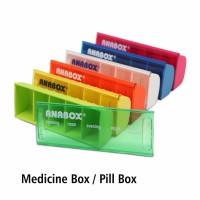 Pill Box Color Anabox per PCS
