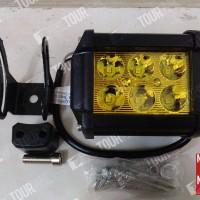 Lampu Tembak/Sorot/Kabut Motor/Mobil LED Worklight 18 Watt 6 Mata