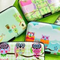 Kartu Kredit Wallet Dompet Aluminium Burung hantu / OWL