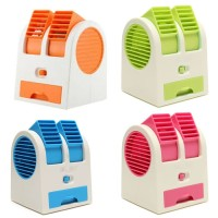 NEW COLOR AC Duduk Mini Portable - Double Blower Mini AC Kipas Angin -