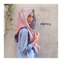 Jual Hijab Printing / Jilbab Segi Empat Deenay - ABEY Murah