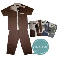 Koko Anak Al Luthfi Motif Leaf Usia 6-9 Tahun Motif Warna Baju Celana