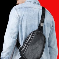 Tas Slempang Sling Shoulder Bag Pria Cowok Impor Korea Terbaru