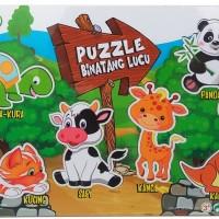 Mainan Kayu Edukasi - Puzzle Sticker Seri Binatang Lucu