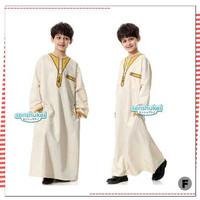 SIZE BESAR gamis boy baju muslim anak laki fashion model timur tengah