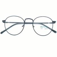 Frame Kacamata Korea Pria Wanita OPPA OP02 FBL Hitam Bulat Fashion