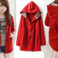 TERLARIS LIMITED EDITION jaket melda red RO jaket wanita babyterry