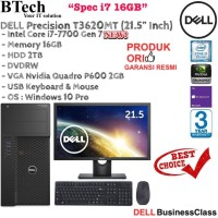 DELL Precision T3620 MT Core i7-7700/16GB/2TB/P600 2GB/WIN10PRO