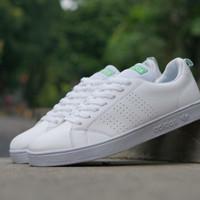 Sepatu sneakers casual adidas advantage putih hijau cewek women wanita