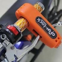 Jual Kunci Gembok Pengaman Anti Maling Stang Motor Murah/GRIP LOCK Murah