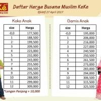 TERBARU - (size 0 - 5) KeKe Busana Baju Muslim Couple Keluarga