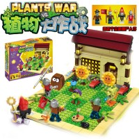 Plants VS Zombie Mainan Action Figure Minecraft