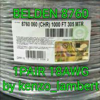 kabel belden 8760 twisted shielded 1 pair 18 awg / belden 8760 18 awg
