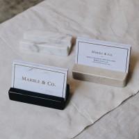 Tempat Kartu Nama Marmer | Biglietti da Visita Marble Place