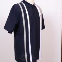 Cole Polo Shirt Vertical Stripes - Navy