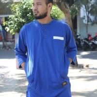 Jual Kaos Kurta Gamis Koko Pakistan Baju Muslim Biru Murah
