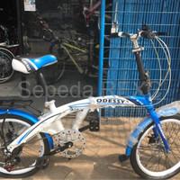 sepeda gunung united Sepeda Lipat 20 Odessy Shimano 7 Speed Discbrak