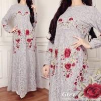 Jual REAL PIC Baju Gamis Pesta Muslimah Lady D maxi 5 warna Berkualitas Murah