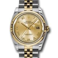 Jam Tangan Rolex Date Just 36mm Swiss Clone 1:1 Best Edition Gold Di