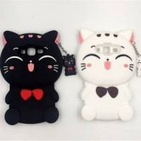 HARGA MINIM Softcase 3D Kawaii Cat Oppo F1s White Black