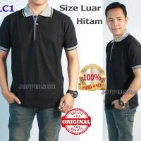 Kaos Polo Shirt Original (Cotton Bukan Pe Polyester) Polos Lc1 Navy