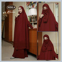 Baju Busana Muslim Gamis Syari Nisla Fashion Muslim Dress Plus Cadar