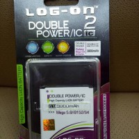 Baterai LOG-ON DOUBLE POWER SAMSUNG MEGA 58 / S4 / Grand2
