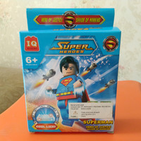 Mainan super heroes superman brick lego