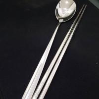 Set Alat Makan Korea (Sendok SUJEO dan SUMPIT Stainless Steel 304)