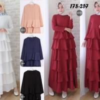 Dress Gamis Putih Polos Baju Lebaran Haji Umrah Pesta Pernikahan